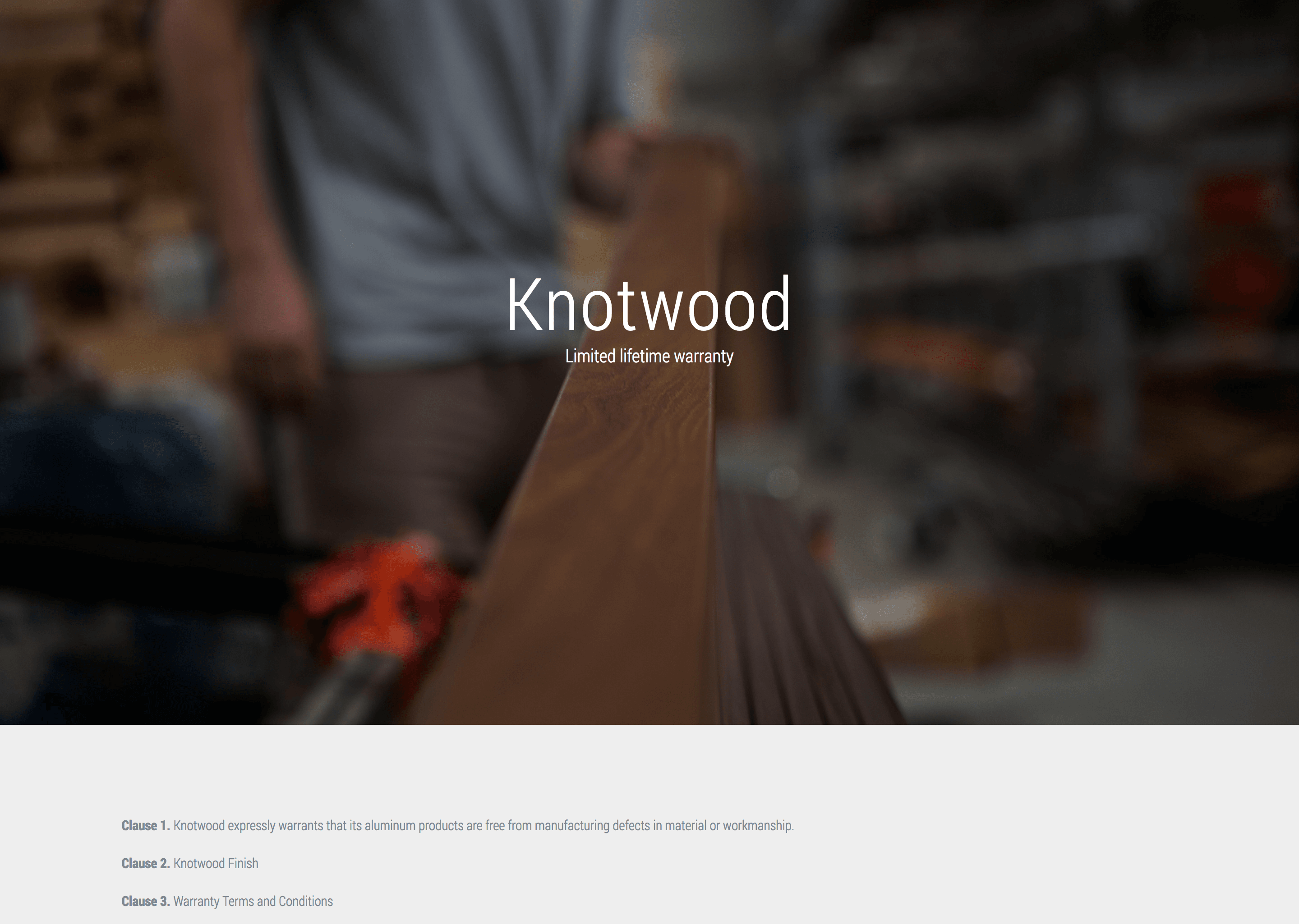 , Warranty, Knotwood Architectural Products